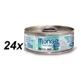 Monge mokra karma dla kota Natural owoce morza z kurczakiem 24x80 g