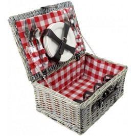 TORO Kosz piknikowy 40x28x18 cm, czerwony