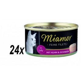 Finnern mokra karma dla kota Miamor Filet z kurczaka + szynka 24x100g