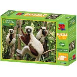 Lamps Puzzle 3D Kids Lemury 100 el.