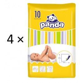 Panda Podkłady do przewijania, 60 x 60 cm,  40 sztuk