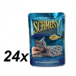 Schmusy saszetki dla kota Fish tuńczyk + sardynki 24 x 100g