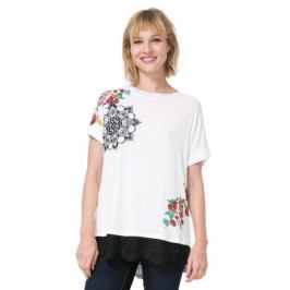 Desigual T-shirt damski Oporto S kremowy