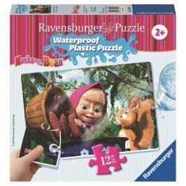 Ravensburger Puzzle Masza i Niedźwiedź, Wiewiórka, 12 el.