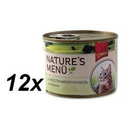 Schmusy mokra karma dla kota Nature´s Menu dziczyzna+tuńczyk 12x190g