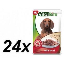 VitalBite saszetki z wołowiną, 24x 85 g