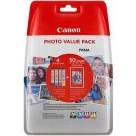 Canon Zestaw CLI-571XL C/M/Y/BK + 50x PP-201