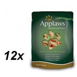 Applaws saszetki dla kota Chicken & Aspargus 12x70g