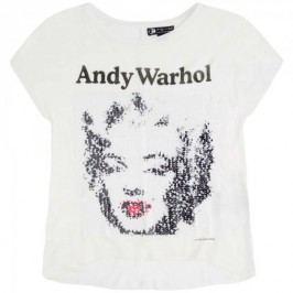 Pepe Jeans T-shirt dziewczęcy Amy 104 kremowy