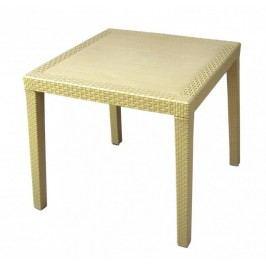 MEGA PLAST stół ogrodowy MP696 RATAN LUX stół 71 x 75,5 cm, kremowy