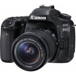 Canon lustrzanka cyfrowa EOS 80D + 18-55 IS STM
