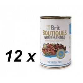Brit mokra karma dla psa Boutiques Gourmandes Duck Bits&Paté - 12 x 400g