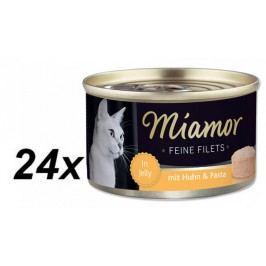 Finnern mokra karma dla kota Miamor kurczak z grilla+makaron 24x100g