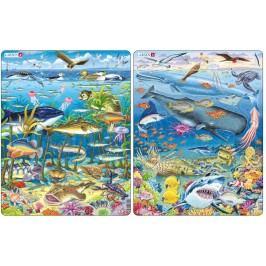 LARSEN Puzzle Zwierzęta w rzece i morzu MAXI