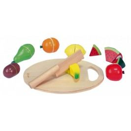 Teddies Owoce do krojenia + deska, drewniane, 17 el.