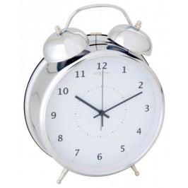 NEXTIME Wake Up 20 cm, biały/srebrny