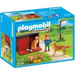 Playmobil Labrador z szczeniakami 6134