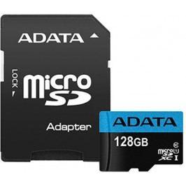 A-Data karta pamięci microSDXC 128GB Premier UHS-I z adapterem (AUSDX128GUICL10 85-RA1)