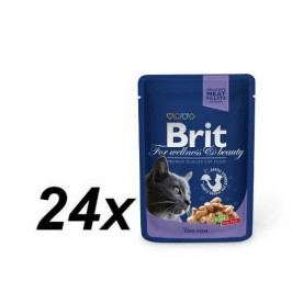 Brit Premium Cat Pouches with Cod Fish 24x100g