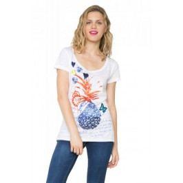 Desigual T-shirt damski XS biały