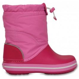 Crocs Śniegowce Crocband Lodge Point Boot Kids Candy Pink/Party Pink 24-25 (C8)