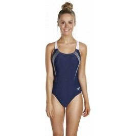 Speedo Strój Sports Logo Medalist Navy/White 34