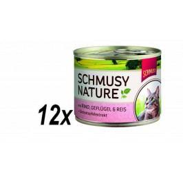 Schmusy mokra karma dla kota Nature´s Menu wołowina + drób 12 x 190 g