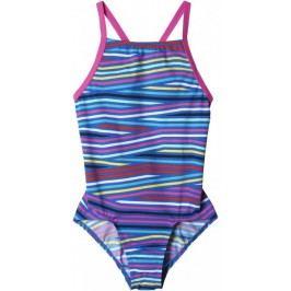 Adidas strój kąpielowy Inf+Th.St.1Pcgb Shock Pink /Blue 140