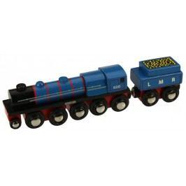 Bigjigs Rail Replika lokomotywy LMR Gordon + 3 elementy torów