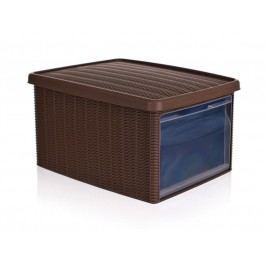 Stefanplast Multifunkcyjny kosz BOX 15l, brązowy
