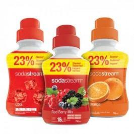 Sodastream syropy pomarańczowy, owoce leśne i cola 750 ml