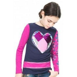 Desigual T-shirt dziewczęcy 116 niebieski