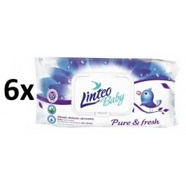 LINTEO Chusteczki nawilżane Pure and Fresh 6x80 szt.
