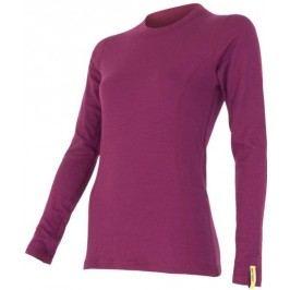 Sensor koszulka termoaktywna z długim rękawem Double Face Merino Wool W Lila L