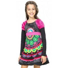Desigual sukienka dziewczęca 104 wielokolorowy