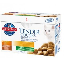Hill's saszetki dla kociąt Mutlipack Feline Kitten Kurczak + indyk 12 x 85 g