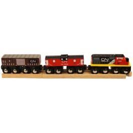 Bigjigs Rail CN pociąg + wagony