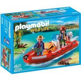 Playmobil Łódź pontonowa z kłusownikami 5559