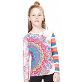 Desigual T-shirt dziewczęcy 104 wielokolorowy