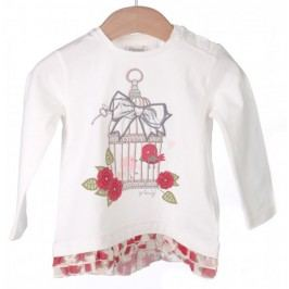 Primigi T-shirt dziewczęcy 74 kremowy