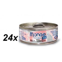Monge mokra karma dla kota Natural tuńczyk z krewetkami 24 x 80 g
