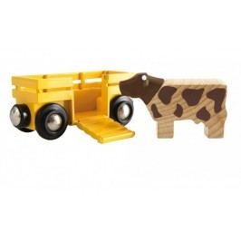 Brio Wagon z krową 33406