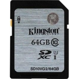 Kingston karta pamięci SDHC 64GB (UHS-1) 45MB/s (SD10VG2/64GB)