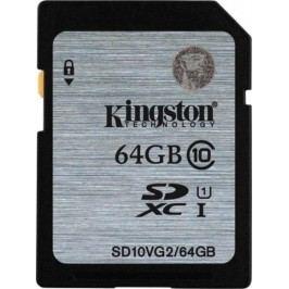 Kingston karta pamięci SDHC 64GB (UHS-1) 45MB/s (SD10VG2/64GB)