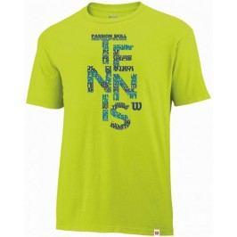 Wilson koszulka męska Spring Tennis Tech T Solar Lime M
