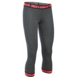Under Armour legginsy Favorite Capri Hem Carbon Heather Black Brilliance XS