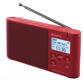 SONY radio przenośne XDRS41D, czerwony