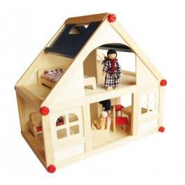 Marionette Mały Dom dla lalek z lalkami, drewniany