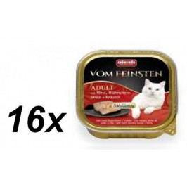 Animonda mokra karma dla kota V.Feinsten z wołowiną, kurczakiem i ziołami 16 x 100g