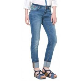 Desigual jeansy damskie Refriposas 25 niebieski